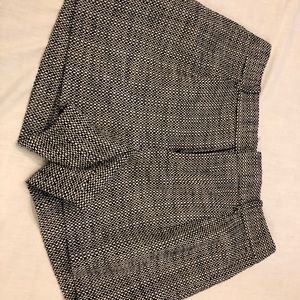 Banana republic black & white tweed shorts 4